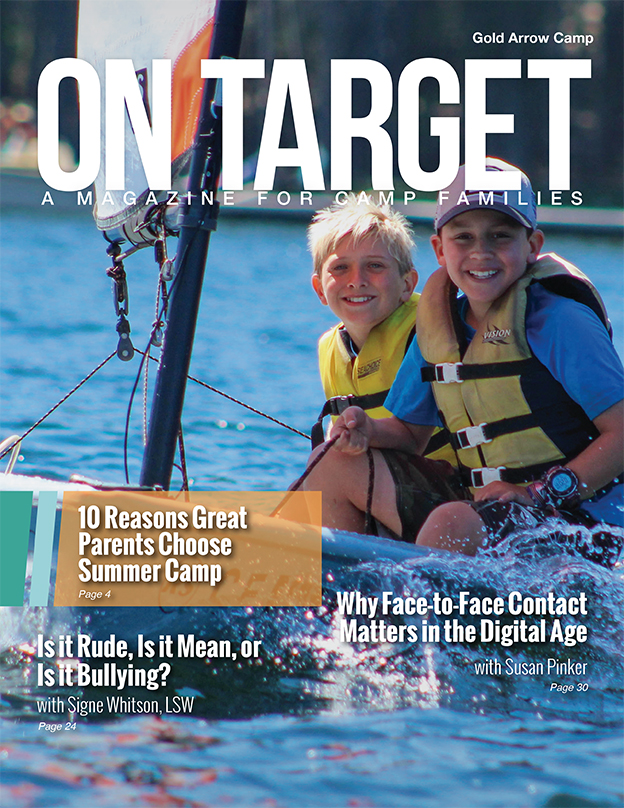 The Cover of the parenting magazine On Target