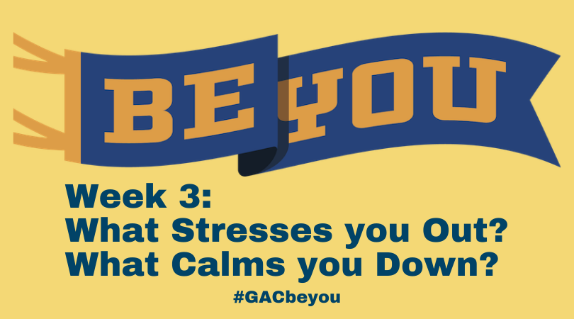 BE YOU: What Stresses you Out? What Calms you Down?